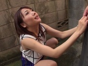Ayako Kanou gives warm blowjob in outdoorsyoung asian, xxx asian}