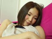 Spicy japanese teen Yuki Kanade gets her pink pussy drilled
