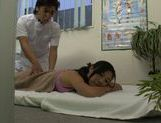 Voluptuous Japanese milf is pounded by masseur in a doggystyle