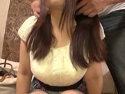 Busty Japanese model shows off in hardcore