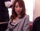Sexy MILF Kaede Matsushima takes a hard fucking on a train