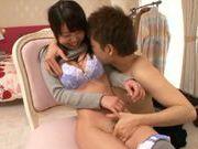 Busty angel Aiko Yumeno gets licked and nailed extremely hard