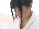 Top notch Japanese AV girl Asahi Yuuki shows off and rubs her pussy