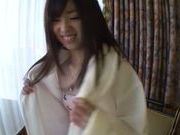 Petite teen Mikuri with tiny tits gives a perfect blow