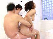 Bath sex with Karou Natsuki & Maki Hokujo