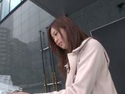Naughty milf Natsumi Shiraishi drilled by toys publicly