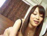 Busty Akari Hoshino likes to suck hard cocks