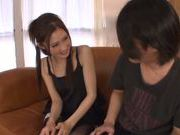 Miu Nagino Asian chick slurping dick for fun