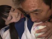 Shameless Japanese teen girl is screwed by mature dude