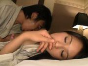 Asian with hairy pussy Ai Wakana gets hard pounded