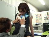 Really fine looking Yuuki Natsume gets fingered her pussy picture 15