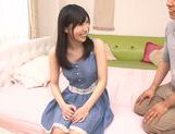 Charming Asian teen Yuki Komiyama sucks and gets screwed