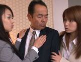Sweet teen Riho Nanase gets horny at the office picture 11