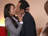 Sweet teen Riho Nanase gets horny at the office picture 14