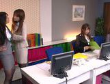 Sweet teen Riho Nanase gets horny at the office picture 2