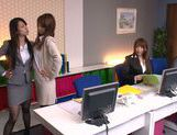 Sweet teen Riho Nanase gets horny at the office picture 3