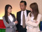 Sweet teen Riho Nanase gets horny at the office picture 9