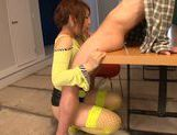 Arousing Shiori Kamisaki pleases male with blowjob picture 11