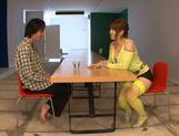 Arousing Shiori Kamisaki pleases male with blowjob picture 2