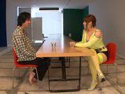 Arousing Shiori Kamisaki pleases male with blowjob