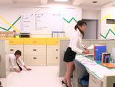 Hot office milf Mei Asou is fond of oral stimulation picture 10