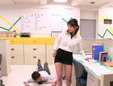 Hot office milf Mei Asou is fond of oral stimulation picture 14