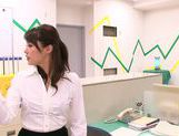 Hot office milf Mei Asou is fond of oral stimulation picture 15