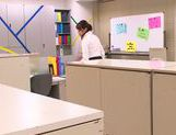 Hot office milf Mei Asou is fond of oral stimulation picture 2