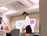 Hot office milf Mei Asou is fond of oral stimulation picture 4