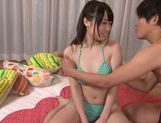 Ami Hyakutake enjoys fingering action to the max picture 1