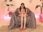 Young Momoka Aryoshi shows off in solo masturbation