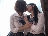 Frisky Japanese school girls Yui Rena and Ruka Seiko are horny lesbianshot asian girls, asian schoolgirl}