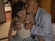 Doggy-style penetration of Meri Hayama pussy