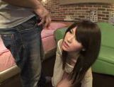 Collared teen Yui Uehara is smacked in a doggystyle picture 11