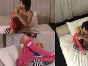Himari Wakana takes an active part in hot voyeur action