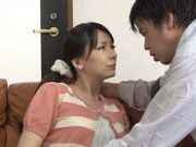 Shinori Ihara enjoying warm pussy stimulation