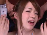 Japanese yummy babe Yyui Nashikawa is pounded by horny guys