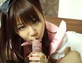 Horny asian babe Yuika Miyaji loves to suck picture 12
