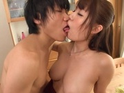 Busty Japanese sex doll Yuka Kitsu rides cock and enjoys cock in mouthasian sex pussy, asian ass}