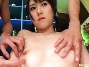 Shiori Kitajama Japanese model spreads her pussy wide open