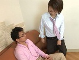 Asian doll Hikari gives astounding blowjob sessions picture 1