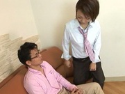 Asian doll Hikari gives astounding blowjob sessions