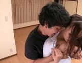 MILF teacher Ruri Saijo thrills two guys in a threesome picture 15