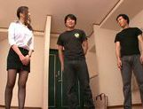 MILF teacher Ruri Saijo thrills two guys in a threesome picture 5