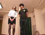 MILF teacher Ruri Saijo thrills two guys in a threesome