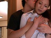 MILF teacher Ruri Saijo thrills two guys in a threesome