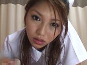 Cum thirsty Japanese Av model eats cum with so much passion