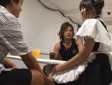 Haruka Itoh Sexy Asian chick in waitress uniform picture 1