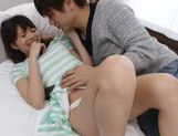 Cute Japanese girl Anna Ousaka gets mouthful of cum picture 6