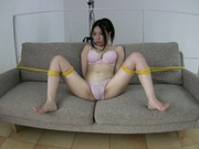 Horny Asian AV girl Imai Misuzu enjoys toy insertion action